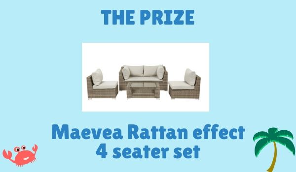 Win a 4 seater rattan style garden set
