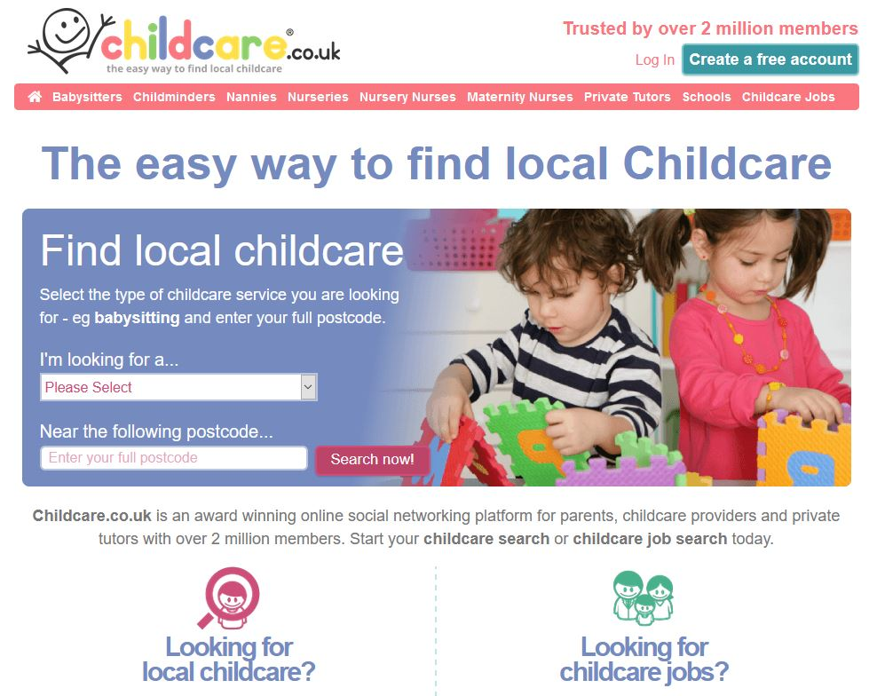 Review of childcare.co.uk, a site to help you find childcare