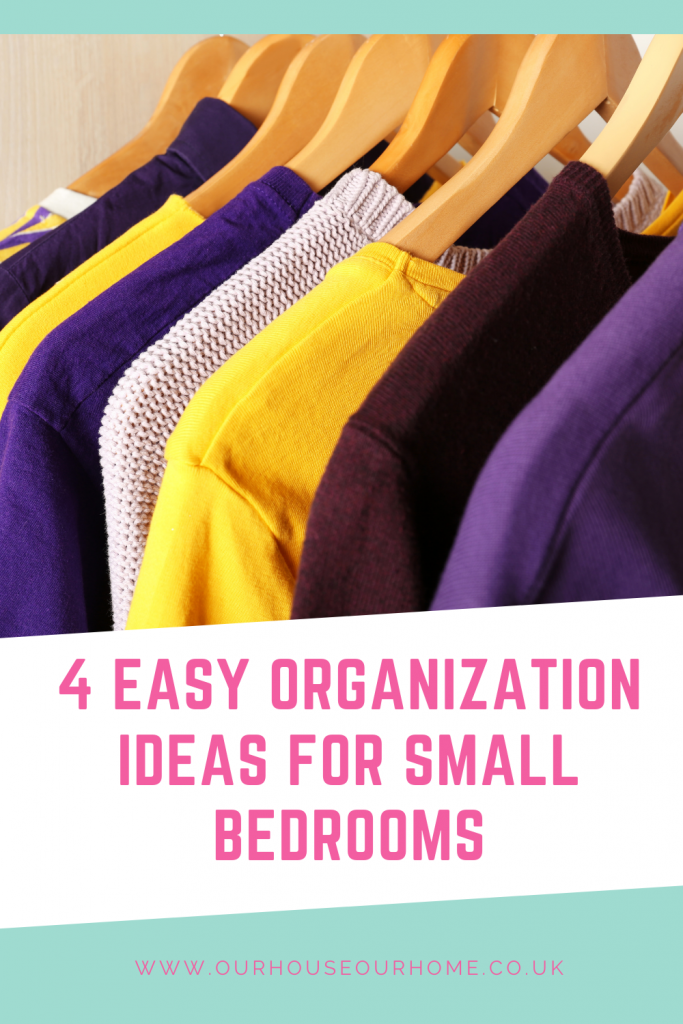 4 Easy organization ideas for small bedrooms